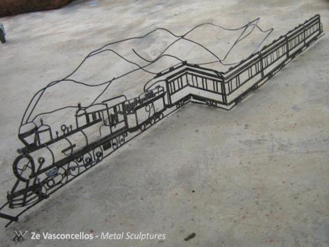Maria Fumaça - À VENDA Ze Vasconcellos Metal Sculptures - Ze Vasconcellos Metal Sculptures - Metal Sculptures - Campinas - São Paulo - Brasil - 4