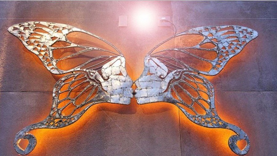 Làmour -  Stainless Steel butterflieZe Vasconcellos Metal Sculptures - Metal Sculptures - Campinas - São Paulo - Brasil Esculturas em Metal, Metal Sculptures, Cavalo Metal, Horse Metal, Art Metal, Ze Vasconcellos Metal Sculptures