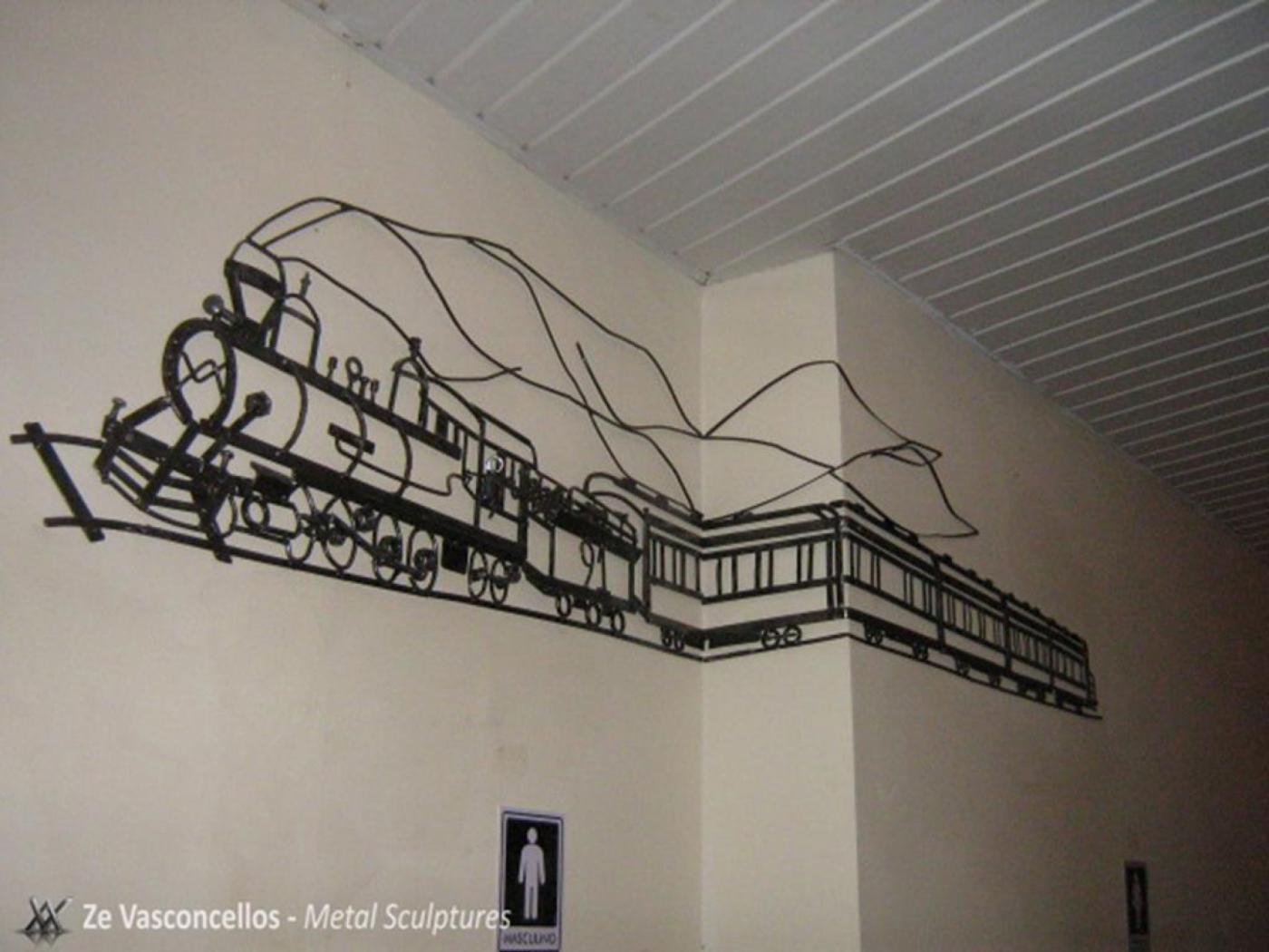 Maria Fumaça - Old locomotiveZe Vasconcellos Metal Sculptures - Metal Sculptures - Campinas - São Paulo - Brasil Esculturas em Metal, Metal Sculptures, Cavalo Metal, Horse Metal, Art Metal, Ze Vasconcellos Metal Sculptures