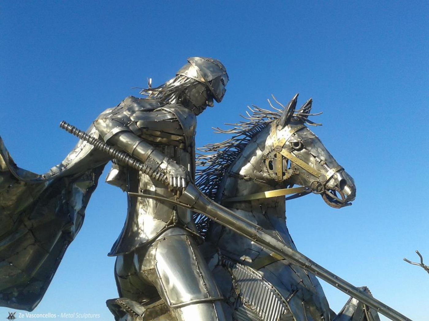 São Jorge  Ze Vasconcellos Metal SculpturesZe Vasconcellos Metal Sculptures - Metal Sculptures - Campinas - São Paulo - Brasil Esculturas em Metal, Metal Sculptures, Cavalo Metal, Horse Metal, Art Metal, Ze Vasconcellos Metal Sculptures