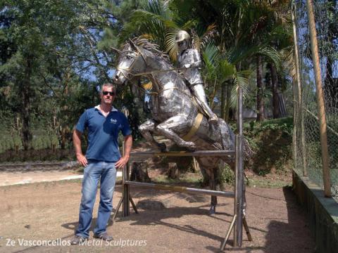 Hipismo-Giovana Ze Vasconcellos Metal Sculptures - Ze Vasconcellos Metal Sculptures - Metal Sculptures - Campinas - São Paulo - Brasil - 2