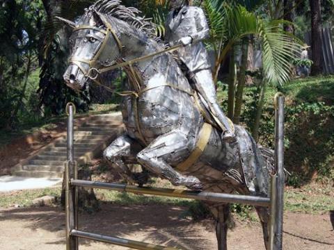 Hipismo-Giovana Ze Vasconcellos Metal Sculptures - Ze Vasconcellos Metal Sculptures - Metal Sculptures - Campinas - São Paulo - Brasil - 4