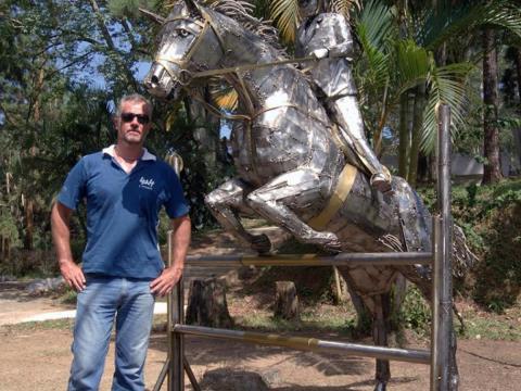 Hipismo-Giovana Ze Vasconcellos Metal Sculptures - Ze Vasconcellos Metal Sculptures - Metal Sculptures - Campinas - São Paulo - Brasil - 1