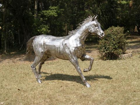 Quarto de Milha em Inox Ze Vasconcellos Metal Sculptures - Ze Vasconcellos Metal Sculptures - Metal Sculptures - Campinas - São Paulo - Brasil - 5