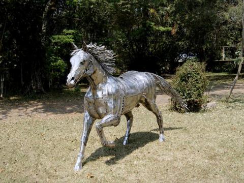 Quarto de Milha em Inox Ze Vasconcellos Metal Sculptures - Ze Vasconcellos Metal Sculptures - Metal Sculptures - Campinas - São Paulo - Brasil - 1