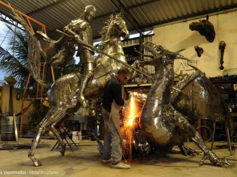 São Jorge  Ze Vasconcellos Metal Sculptures - Ze Vasconcellos Metal Sculptures - Metal Sculptures - Campinas - São Paulo - Brasil - 3