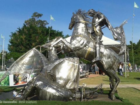 São Jorge  Ze Vasconcellos Metal Sculptures - Ze Vasconcellos Metal Sculptures - Metal Sculptures - Campinas - São Paulo - Brasil - 5