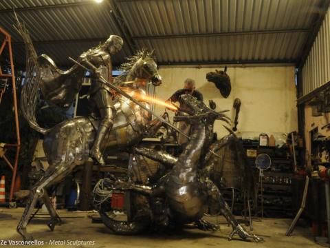São Jorge  Ze Vasconcellos Metal Sculptures - Ze Vasconcellos Metal Sculptures - Metal Sculptures - Campinas - São Paulo - Brasil - 2