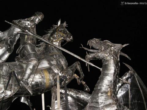 São Jorge  Ze Vasconcellos Metal Sculptures - Ze Vasconcellos Metal Sculptures - Metal Sculptures - Campinas - São Paulo - Brasil - 15