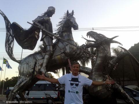 São Jorge  Ze Vasconcellos Metal Sculptures - Ze Vasconcellos Metal Sculptures - Metal Sculptures - Campinas - São Paulo - Brasil - 4
