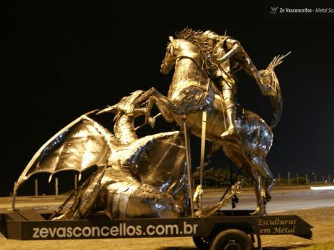 São Jorge  Ze Vasconcellos Metal Sculptures - Ze Vasconcellos Metal Sculptures - Metal Sculptures - Campinas - São Paulo - Brasil - 14