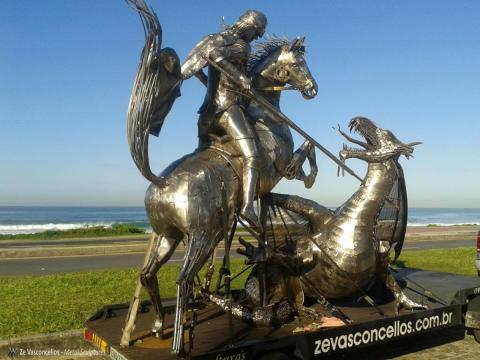 São Jorge  Ze Vasconcellos Metal Sculptures - Ze Vasconcellos Metal Sculptures - Metal Sculptures - Campinas - São Paulo - Brasil - 12