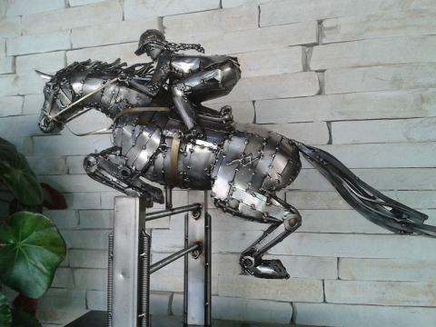Hipismo - Patas no Ar - À V ENDA Ze Vasconcellos Metal Sculptures - Ze Vasconcellos Metal Sculptures - Metal Sculptures - Campinas - São Paulo - Brasil - 6