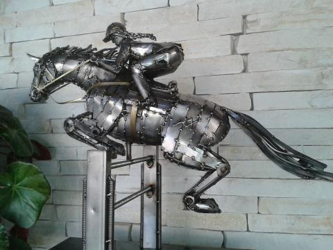 Hipismo - Patas no Ar - À V ENDA Ze Vasconcellos Metal Sculptures - Ze Vasconcellos Metal Sculptures - Metal Sculptures - Campinas - São Paulo - Brasil - 3
