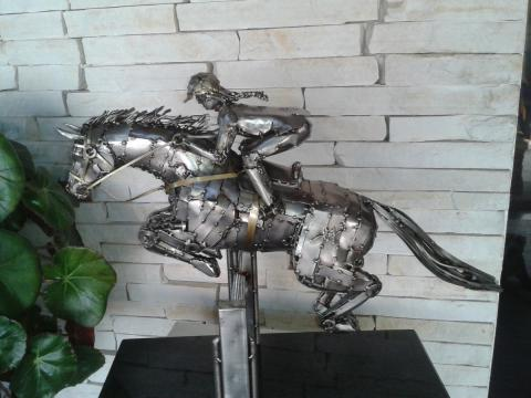 Hipismo - Patas no Ar - À V ENDA Ze Vasconcellos Metal Sculptures - Ze Vasconcellos Metal Sculptures - Metal Sculptures - Campinas - São Paulo - Brasil - 1