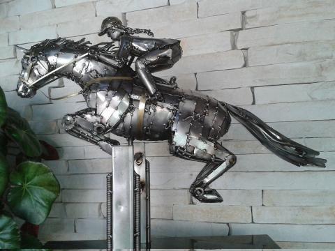 Hipismo - Patas no Ar - À V ENDA Ze Vasconcellos Metal Sculptures - Ze Vasconcellos Metal Sculptures - Metal Sculptures - Campinas - São Paulo - Brasil - 2