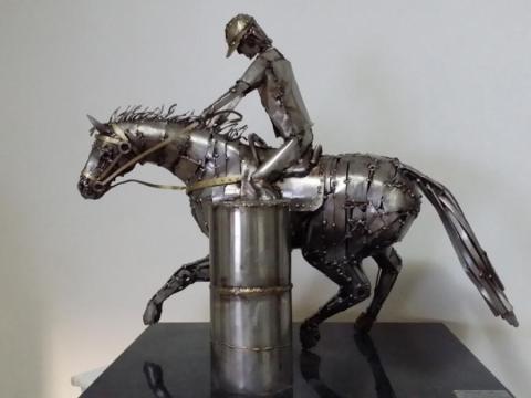 Prova do Tambor - Haras Raphaela Ze Vasconcellos Metal Sculptures - Ze Vasconcellos Metal Sculptures - Metal Sculptures - Campinas - São Paulo - Brasil - 1