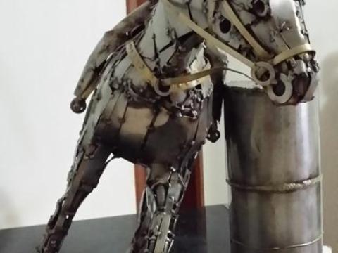 Prova do Tambor - Haras Raphaela Ze Vasconcellos Metal Sculptures - Ze Vasconcellos Metal Sculptures - Metal Sculptures - Campinas - São Paulo - Brasil - 2