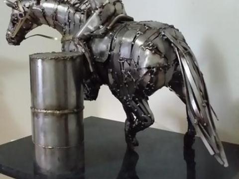 Prova do Tambor - Haras Raphaela Ze Vasconcellos Metal Sculptures - Ze Vasconcellos Metal Sculptures - Metal Sculptures - Campinas - São Paulo - Brasil - 3
