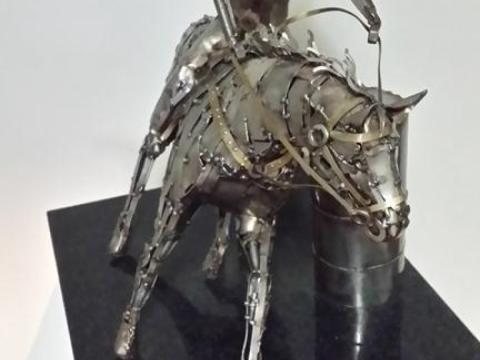 Prova do Tambor - Haras Raphaela Ze Vasconcellos Metal Sculptures - Ze Vasconcellos Metal Sculptures - Metal Sculptures - Campinas - São Paulo - Brasil - 5
