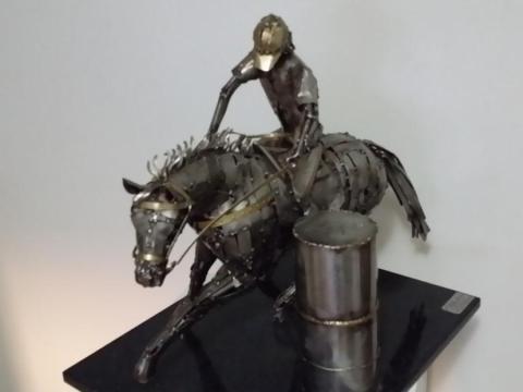 Prova do Tambor - Haras Raphaela Ze Vasconcellos Metal Sculptures - Ze Vasconcellos Metal Sculptures - Metal Sculptures - Campinas - São Paulo - Brasil - 4