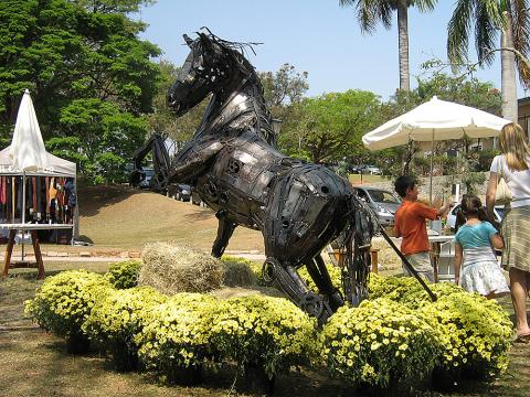 Exposição Hípica – Campinas 2008 Metal Sulpture, Sculpture Steel, Escultura em Meta, Horse Metal, Ze Vasconcellos - Ze Vasconcellos Metal Sculptures - Metal Sculptures - Campinas - São Paulo - Brasil - 2