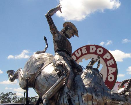 Festa de Peão de Barretos SP 2007 Ze Vasconcellos Metal Sculpture Esculturas em Metal Sculpture Steel - Ze Vasconcellos Metal Sculptures - Metal Sculptures - Campinas - São Paulo - Brasil - 1