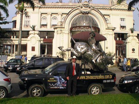 Grande Premio Brasil - RJ Metal Sulpture, Sculpture Steel, Escultura em Meta, Horse Metal, Ze Vasconcellos - Ze Vasconcellos Metal Sculptures - Metal Sculptures - Campinas - São Paulo - Brasil - 7