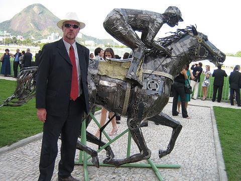 Grande Premio Brasil - RJ Metal Sulpture, Sculpture Steel, Escultura em Meta, Horse Metal, Ze Vasconcellos - Ze Vasconcellos Metal Sculptures - Metal Sculptures - Campinas - São Paulo - Brasil - 8