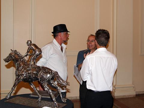 Jockey Maroñes- Montevideo Uruguay Metal Sulpture, Sculpture Steel, Escultura em Meta, Horse Metal, Ze Vasconcellos - Ze Vasconcellos Metal Sculptures - Metal Sculptures - Campinas - São Paulo - Brasil - 4