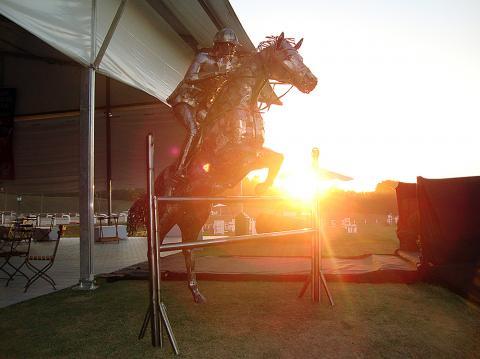 Hípica Helvetia Riding Metal Sulpture, Sculpture Steel, Escultura em Meta, Horse Metal, Ze Vasconcellos - Ze Vasconcellos Metal Sculptures - Metal Sculptures - Campinas - São Paulo - Brasil - 3