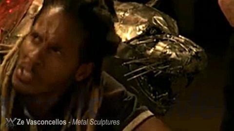 Escultura Jaguar está no cenário da novela Metal Sulpture, Sculpture Steel, Escultura em Meta, Horse Metal, Ze Vasconcellos - Ze Vasconcellos Metal Sculptures - Metal Sculptures - Campinas - São Paulo - Brasil - 3