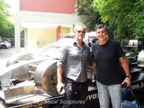Ze Vasconcellos, Felipe Massa e Vários pilotos prestigiam evento no São Paulo FC. Ze Vasconcellos Metal Sculptures - Ze Vasconcellos Metal Sculptures - Metal Sculptures - Campinas - São Paulo - Brasil - 1