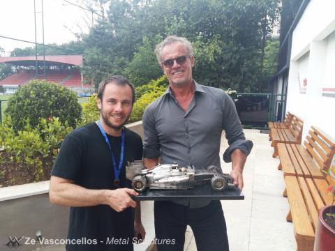 Ze Vasconcellos, Felipe Massa e Vários pilotos prestigiam evento no São Paulo FC. Ze Vasconcellos Metal Sculptures - Ze Vasconcellos Metal Sculptures - Metal Sculptures - Campinas - São Paulo - Brasil - 4