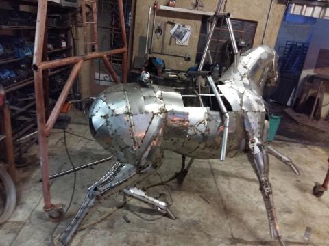 Prova do tambor - Confecção Ze Vasconcellos Metal Sculptures - Ze Vasconcellos Metal Sculptures - Metal Sculptures - Campinas - São Paulo - Brasil - 1