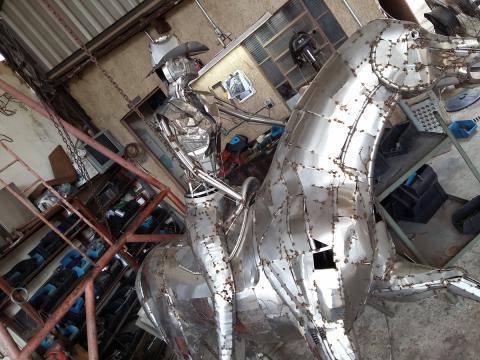 Prova do tambor - Confecção Ze Vasconcellos Metal Sculptures - Ze Vasconcellos Metal Sculptures - Metal Sculptures - Campinas - São Paulo - Brasil - 7