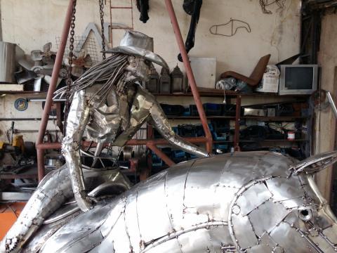 Prova do tambor - Confecção Ze Vasconcellos Metal Sculptures - Ze Vasconcellos Metal Sculptures - Metal Sculptures - Campinas - São Paulo - Brasil - 5