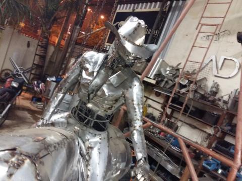 Prova do tambor - Confecção Ze Vasconcellos Metal Sculptures - Ze Vasconcellos Metal Sculptures - Metal Sculptures - Campinas - São Paulo - Brasil - 3