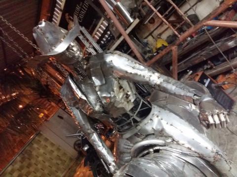 Prova do tambor - Confecção Ze Vasconcellos Metal Sculptures - Ze Vasconcellos Metal Sculptures - Metal Sculptures - Campinas - São Paulo - Brasil - 4