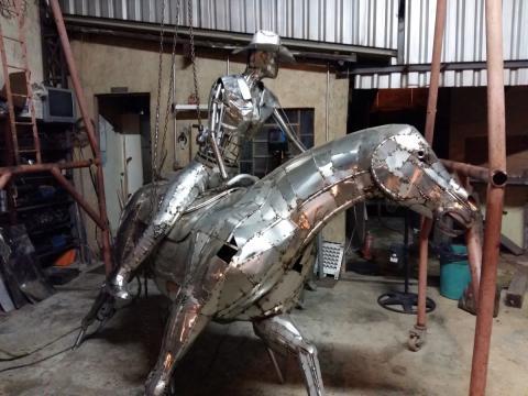 Prova do tambor - Confecção Ze Vasconcellos Metal Sculptures - Ze Vasconcellos Metal Sculptures - Metal Sculptures - Campinas - São Paulo - Brasil - 2