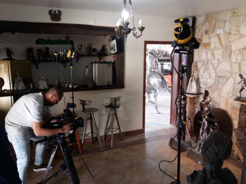 Ze Vasconcellos no Programa ENCONTRO com Fátima Bernardes- Dia 15-07-2016 Ze Vasconcellos Metal Sculptures - Ze Vasconcellos Metal Sculptures - Metal Sculptures - Campinas - São Paulo - Brasil - 1
