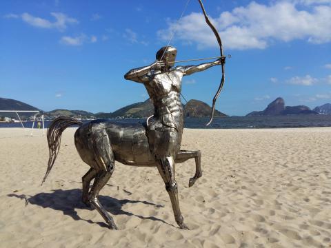 Ze Vasconcellos homenagea Usain Bolt - Escultura CENTAURO estará no Rio 2016 Ze Vasconcellos Metal Sculptures - Ze Vasconcellos Metal Sculptures - Metal Sculptures - Campinas - São Paulo - Brasil - 5