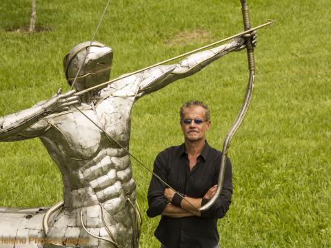 Ze Vasconcellos homenagea Usain Bolt - Escultura CENTAURO estará no Rio 2016 Ze Vasconcellos Metal Sculptures - Ze Vasconcellos Metal Sculptures - Metal Sculptures - Campinas - São Paulo - Brasil - 2