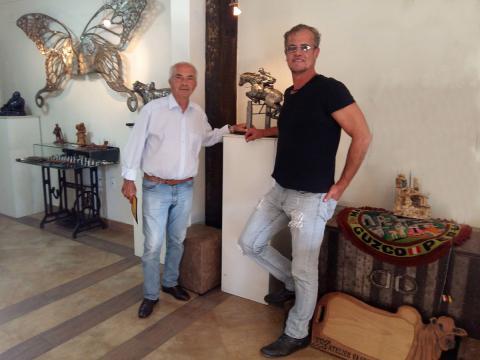 Nelson Pessoa visita Atelier Ze Vasconcellos Ze Vasconcellos Metal Sculptures - Ze Vasconcellos Metal Sculptures - Metal Sculptures - Campinas - São Paulo - Brasil - 6