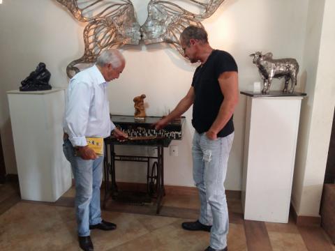 Nelson Pessoa visita Atelier Ze Vasconcellos Ze Vasconcellos Metal Sculptures - Ze Vasconcellos Metal Sculptures - Metal Sculptures - Campinas - São Paulo - Brasil - 4