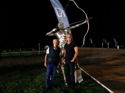 Nelson Pessoa visita Atelier Ze Vasconcellos Ze Vasconcellos Metal Sculptures - Ze Vasconcellos Metal Sculptures - Metal Sculptures - Campinas - São Paulo - Brasil - 1