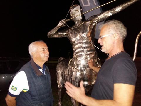Nelson Pessoa visita Atelier Ze Vasconcellos Ze Vasconcellos Metal Sculptures - Ze Vasconcellos Metal Sculptures - Metal Sculptures - Campinas - São Paulo - Brasil - 2