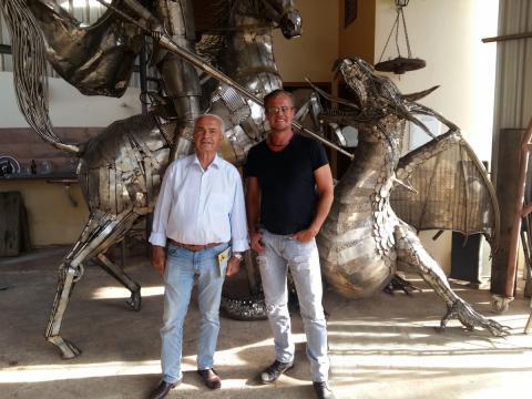 Nelson Pessoa visita Atelier Ze Vasconcellos Ze Vasconcellos Metal Sculptures - Ze Vasconcellos Metal Sculptures - Metal Sculptures - Campinas - São Paulo - Brasil - 3